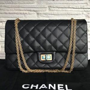Chanel Caviar Reissue GHW 227 Jumbo